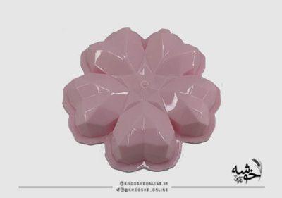 قالب ژله پلاستیکی الماسی 5قلب