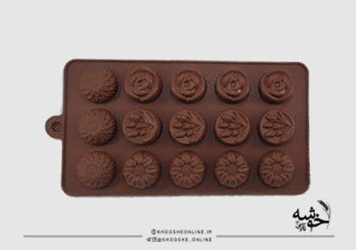 قالب سیلیکونی شکلات گل 4عددی