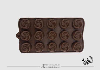 قالب سیلیکونی شکلات گل رز کد16