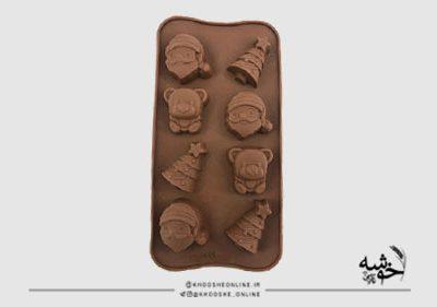 قالب سیلیکونی شکلات طرح کریسمس کد19