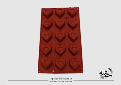 قالب سیلیکونی قلب کنگره کد2317
