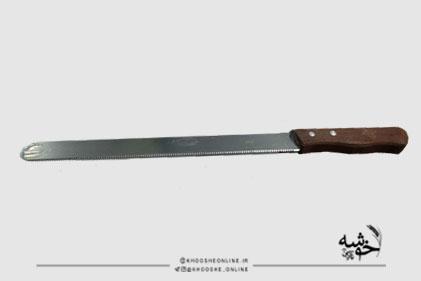 چاقو برش کیک دسته چوبی