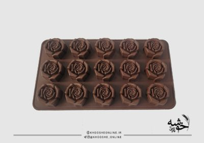 قالب سیلیکونی شکلات طرح گل رز